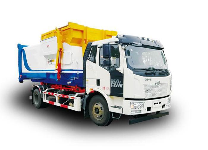 压缩式垃圾车有哪些组成部分?